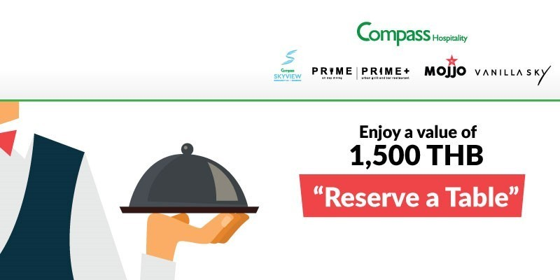 Book a table at Prime Value at 1,500 THB Net