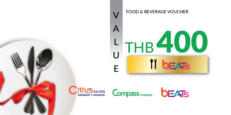 Pay 200 THB & Get 400 THB Value Voucher at Beats
