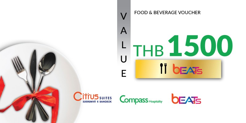 Pay 1,000 THB & Get 1,500 THB Value Voucher at Beats