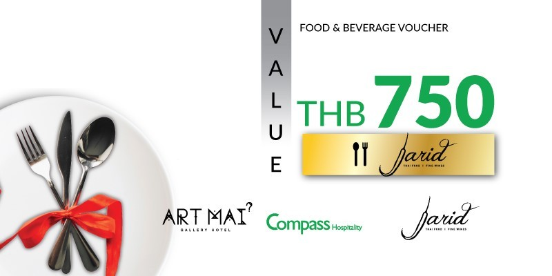 Pay 499 THB & Get 750 THB Value Voucher at Jarid