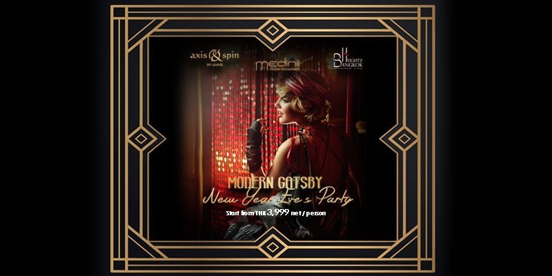 Modern Gatsby Party on New Year's Eve at The Continent Hotel, Bangkok