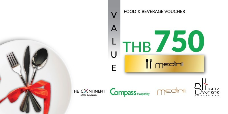 Pay 499 THB & Get 750 THB Value Voucher at Medinii