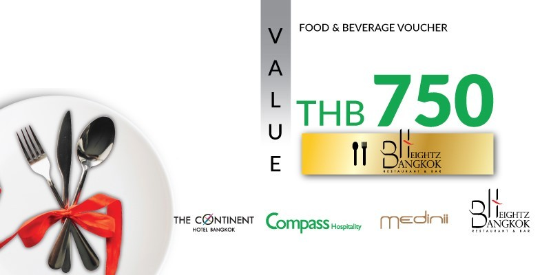 Pay 499 THB & Get 750 THB Value Voucher at Bangkok Heightz