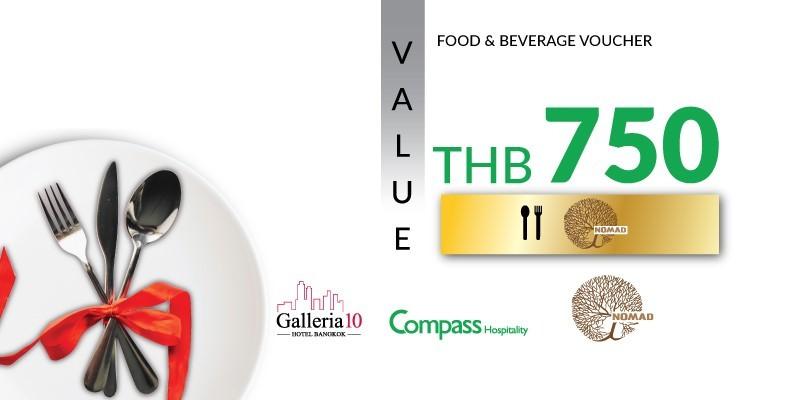 Value Voucher 750 Baht net for price of 499 Baht net