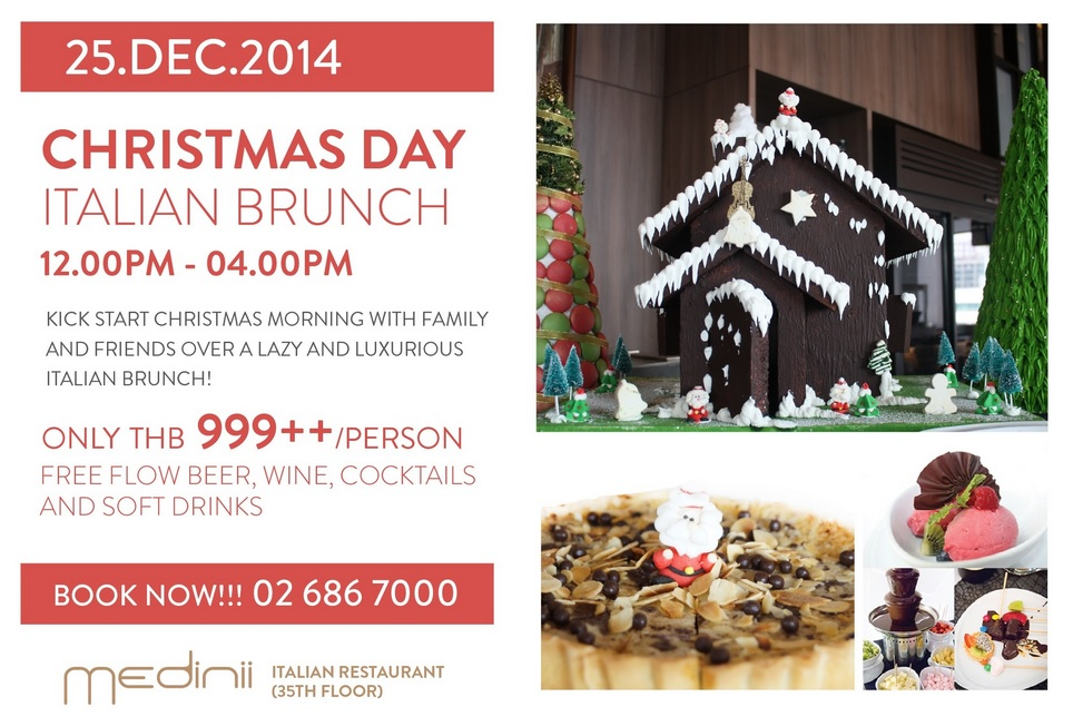 Christmas Eve Brunch at The Continent Hotel Bangkok, near the Asok BTS station on Sukhumvit Road