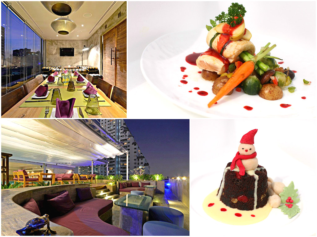 A sneak peak of the Turkey Breast Steak and Warm Xmas Pudding at the Galleria Ten Hotel Bangkok