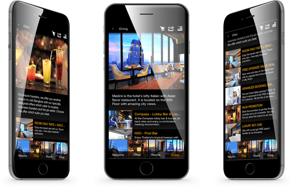 Compass Hospitality mobile app for iPhone and Android