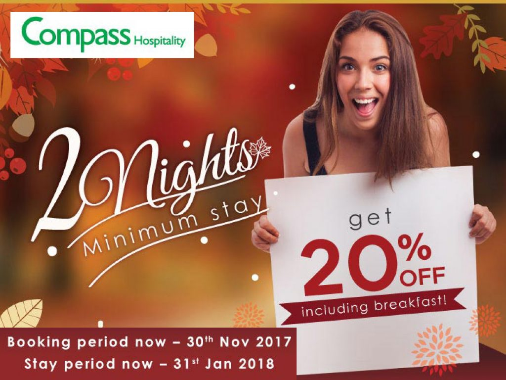 Hotel Deal: Autumn Saver Deal Up To 20%