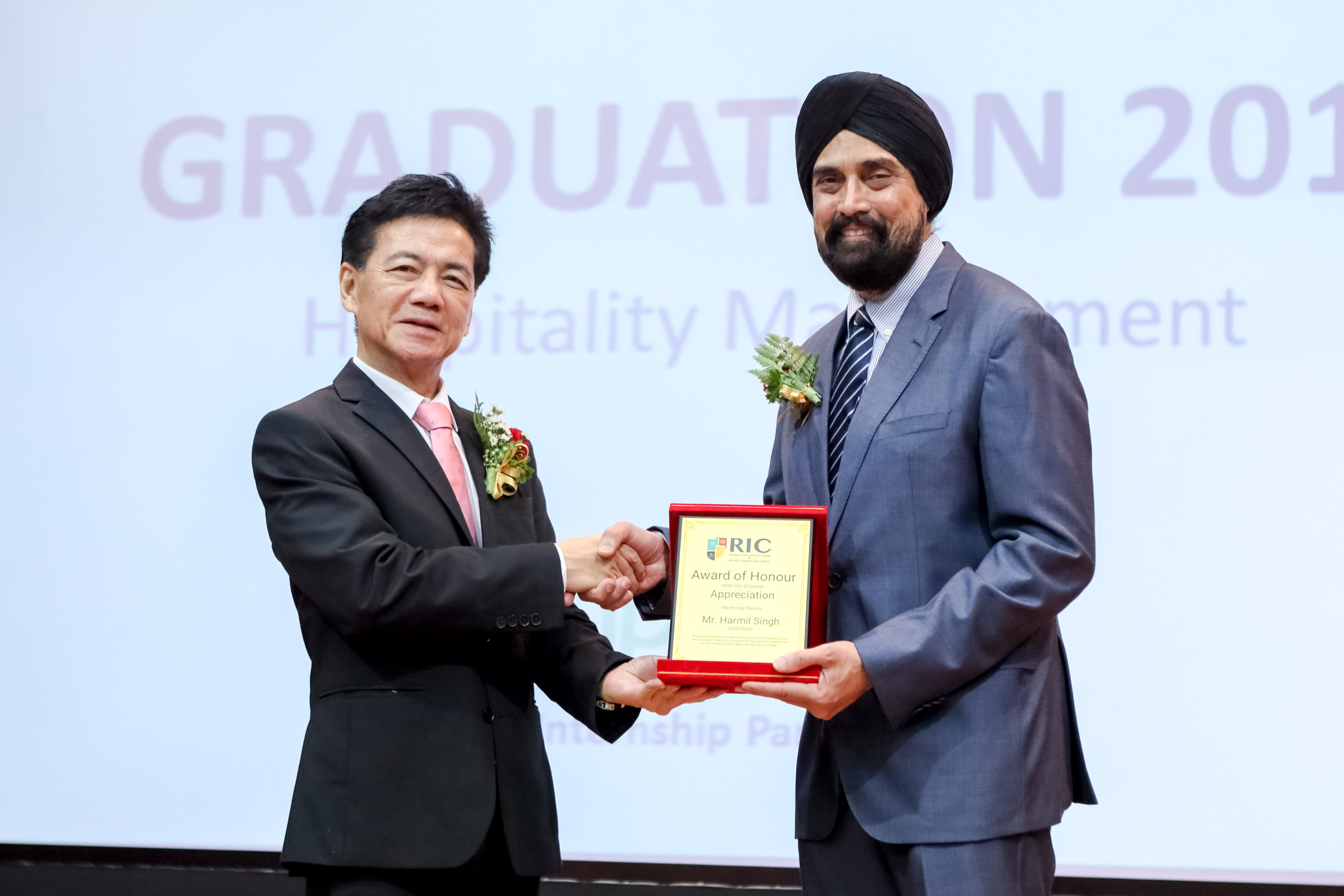 , First Hospitality Management Graduation Ceremony of Regent's International College (RIC), Compass Hospitality