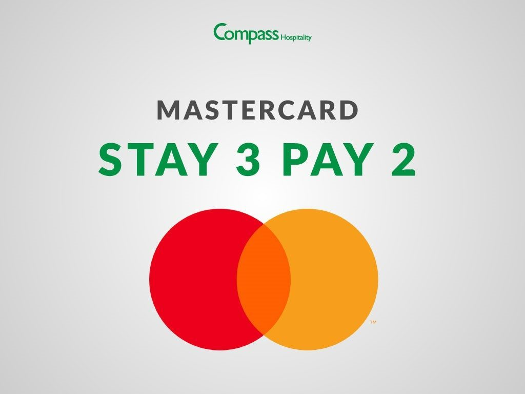 Hotel Deal: Compass Hospitality x Mastercard Stay 3 Pay 2